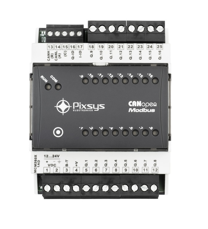 expansion module for digital and analogue signals